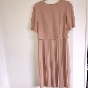Zara Pleated Mid-Length Dress